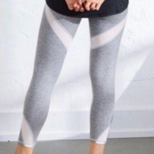 Aerie 7/8 High-Waist Mesh Detail Legging Grey XXL